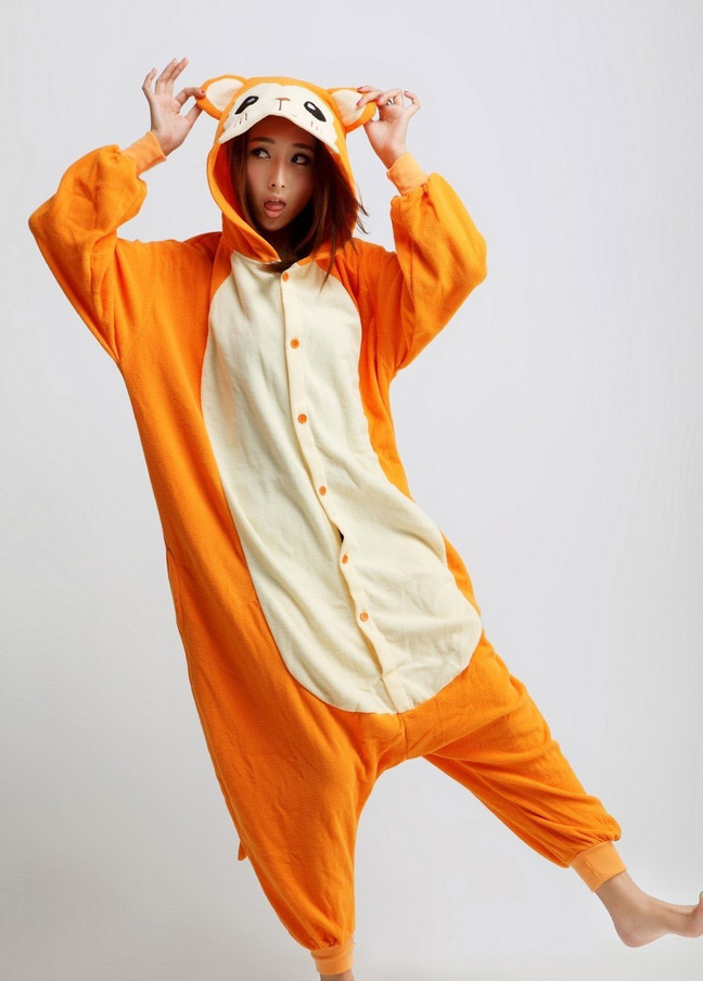 For starters, imitation kigurumi are generally made of much thinner fabric--sometimes crushed velvet, which deteriorates much more quickly than fleece, cotton, and poly--and are poorly stitched together.